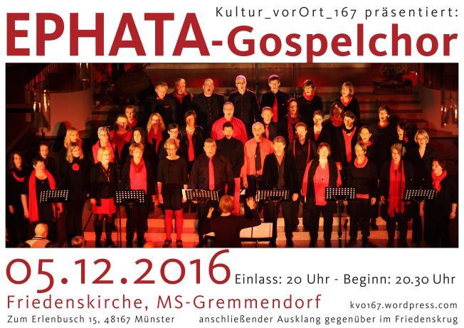 ephata Gospelchor - das Plakat